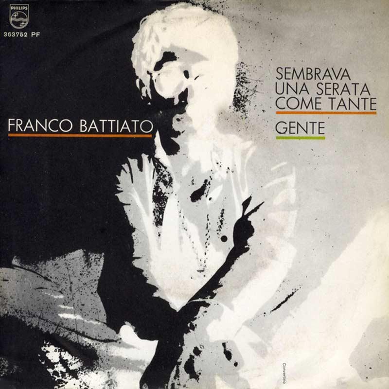 ok Franco Battiato Sembrava Una Serata Come Tante Singolo Vinile lp2